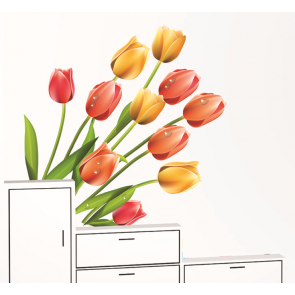 Tulips Wall Decal Sticker